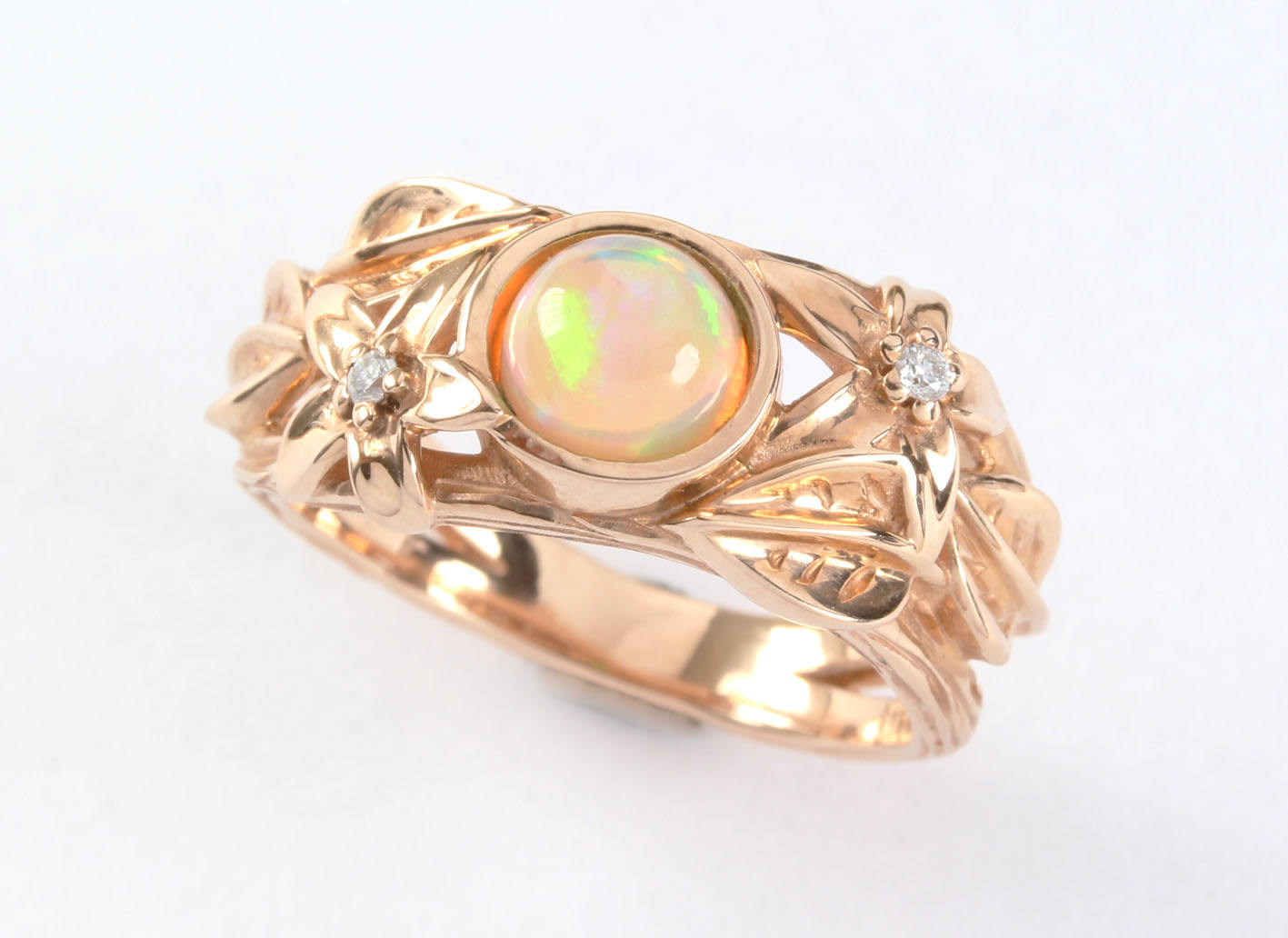 Ethiopian Opal Engagement Ring in Sterling Silver Birthstone Ring,thanksgiving gift Opal Wedding Ring Opal Ring Ethiopian Opal Jewelry
