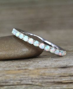 Opal Eternity Band, Eternity 2 mm Wedding Band