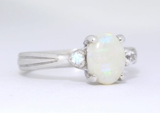 Opal Ring, Vintage Antique Opal Engagement Ring