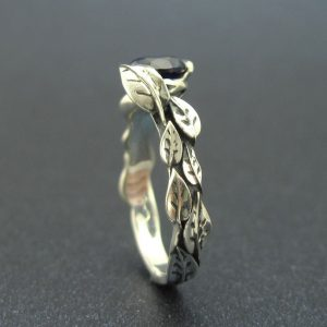 Sapphire Ring, Leaf Sapphire Ring
