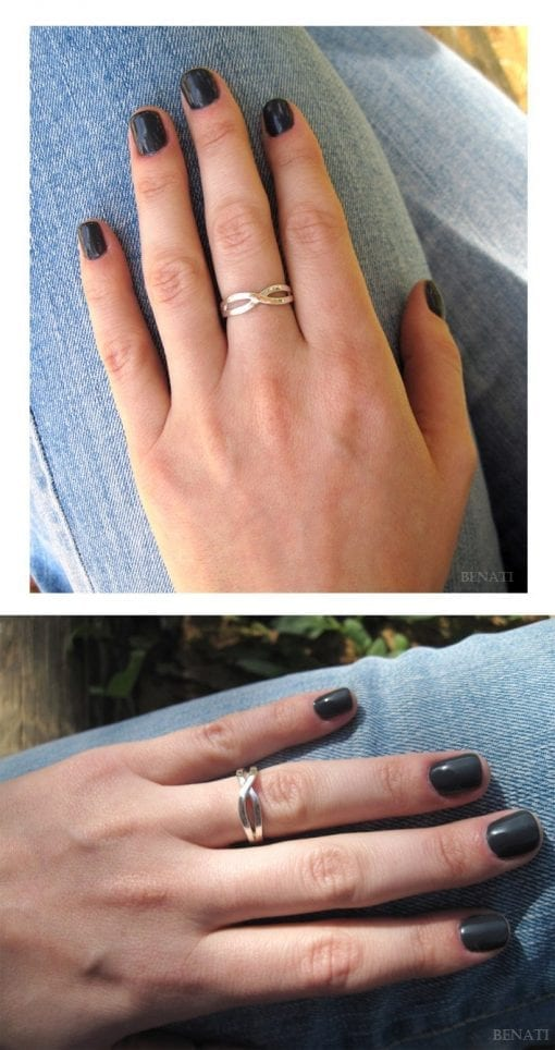 Silver Infinity Ring, Infinity Knot Silver Ring