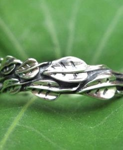 Silver Leaf Ring, Silver Leaves Ring