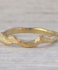 Twig Wedding Band, Branch Ring