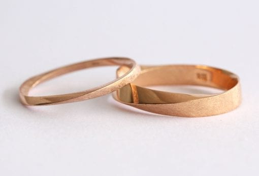 Wedding Band Set, His And Hers Wedding Rings Set