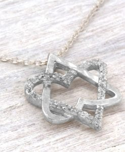 White Gold Magen David, Star of David necklace
