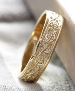 nature inspired mens wedding band