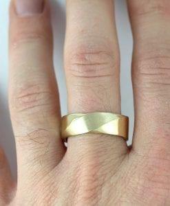 8mm mens wedding band mobius ring for men