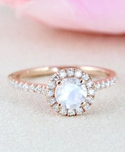Moonstone Engagement Rings
