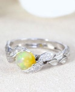Opal Engagement Rings
